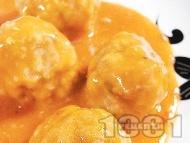 Рецепта Тефтели - израелски телешки кюфтета в доматен сос